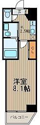 神奈川県横浜市戸塚区品濃町の賃貸マンションの間取り