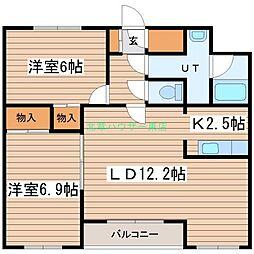 北海道札幌市東区北十六条東18丁目の賃貸マンションの間取り