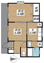 [一戸建] 東京都昭島市福島町2丁目 の賃貸【/】の間取り
