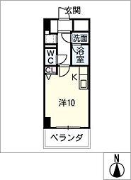 パークレジデンス河崎[2階]の間取り