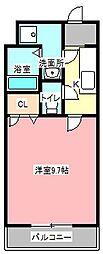 静岡県浜松市東区上石田町の賃貸アパートの間取り