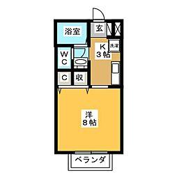 CASAII[1階]の間取り