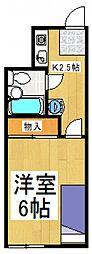 石井コーポ[1階]の間取り