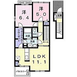 ビ・オーラ7[2階]の間取り