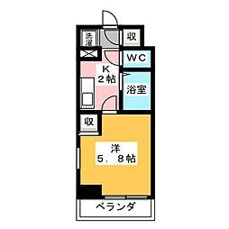 スペーシア堀田[3階]の間取り