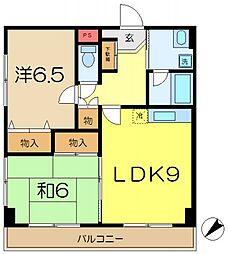 イーストアベニュー丸山台[2階]の間取り