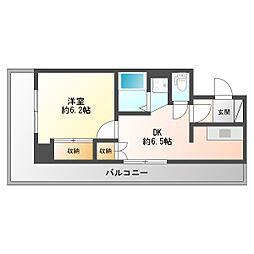 ライオンズマンション第八大通[2階]の間取り