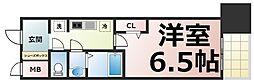 アドバンス大阪ブリアント 13階1Kの間取り