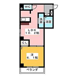 K・ドミール[3階]の間取り
