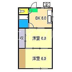城山コーポ[3階]の間取り
