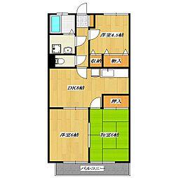 Villa Kasai[1階]の間取り