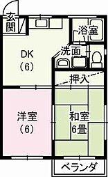 静岡県掛川市中の賃貸アパートの間取り