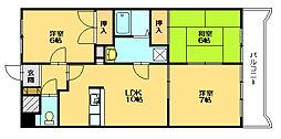 サンパラッツォII[3階]の間取り
