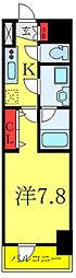 都営三田線 板橋本町駅 徒歩4分の賃貸マンション 8階1Kの間取り