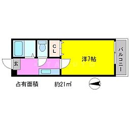 モンエスパシオ松ヶ崎[1階]の間取り
