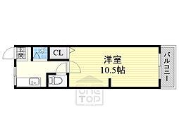 橘第一マンション3階Fの間取り画像