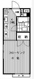 東京都世田谷区太子堂1丁目の賃貸アパートの間取り