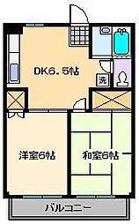 アーバンハイムよし田No1[3階]の間取り
