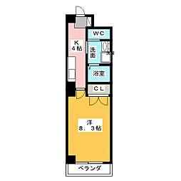 一色館[8階]の間取り
