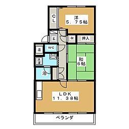 ファミーユ[4階]の間取り