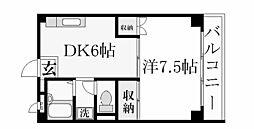 クレセント夙川[2階]の間取り