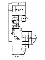 鯉ヶ淵ビル[3階]の間取り