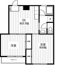 東京都杉並区今川4丁目の賃貸マンションの間取り