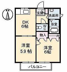 ディアス土居田B[2202 号室号室]の間取り