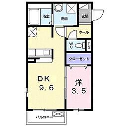 兵庫県尼崎市上坂部2丁目の賃貸アパートの間取り
