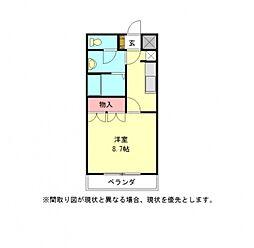 愛知県一宮市大和町妙興寺字山王浦の賃貸アパートの間取り