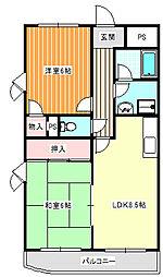 カーサ住之江公園[4階]の間取り