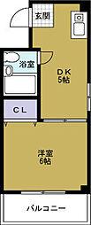 大阪府大阪市西区境川1の賃貸マンションの間取り