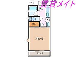 ハイツU-FO[1階]の間取り
