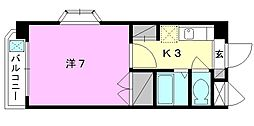 ジョイフル第3小坂[201 号室号室]の間取り
