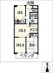 ESPERANZA[1階]の間取り