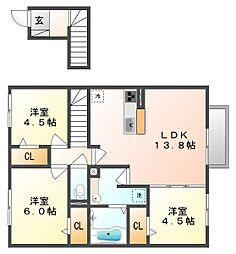 サンハートピアB棟[2階]の間取り