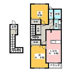 プチ・ヴィラージュII[2階]の間取り