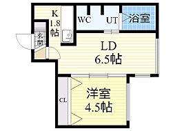 Jentile43[203号室]の間取り