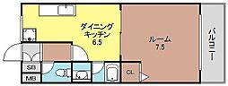 アニマート姫島[601号号室]の間取り