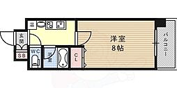 阪神本線 新在家駅 徒歩6分の賃貸マンション 3階1Kの間取り