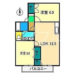 セジュール野島[2階]の間取り