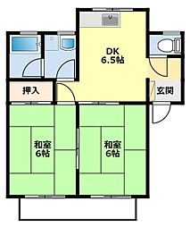 愛知県豊田市花園町観音山の賃貸マンションの間取り