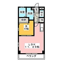 コーポグリーンベール[1階]の間取り