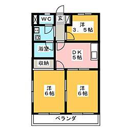にしき今泉新町ハイツIII[3階]の間取り