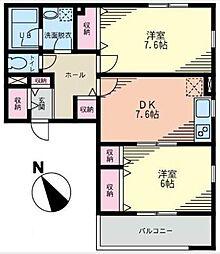 コモンズあざみ野B棟[1階]の間取り