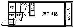 大阪府泉佐野市上町1丁目の賃貸マンションの間取り