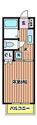東京都立川市栄町4丁目の賃貸アパートの間取り