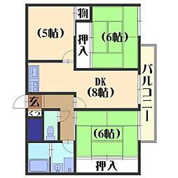モアライフ酒井松[405号室]の間取り