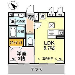 フェリーチェ上福岡[1階]の間取り