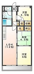 クレストンマンションSI[2階]の間取り